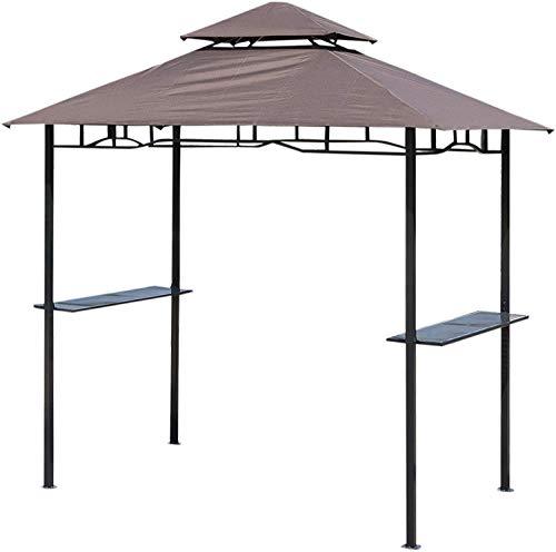 FMXYMC 8 ft New Double-Tier BBQ Pavillon Grill Baldachin Grill Zelt Shelter Patio Deck Abdeckung