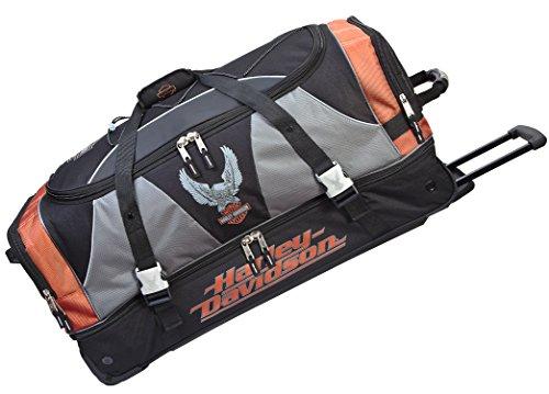 Harley Davidson 32' XL Duffel W/Organizer, Rust/Black