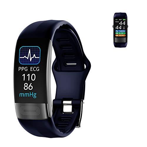 HHT Smart Watch, Schermo Full Touch IP67 Impermeabile Bluetooth Fitness GPS Esecuzione Guarda Activity Tracker Pedometro con frequenza cardiaca Sonno monitoraggio Camera Control,Blu
