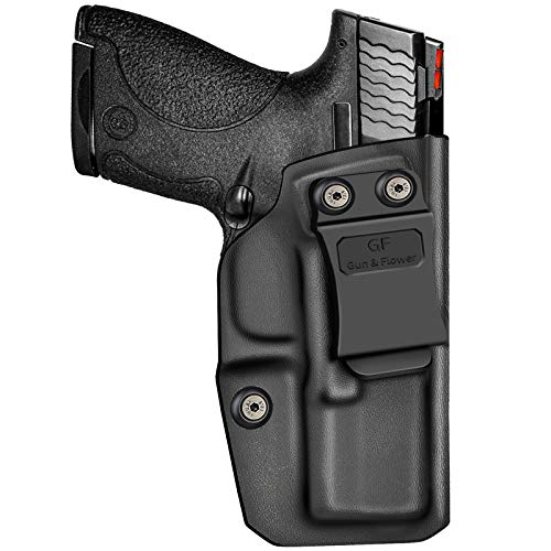 """M&P Shield 9mm Holster , KYDEX IWB Holster for S&W M&P Shield & Shield 9mm/.40-3.1"""" Barrel, Concealed Carry Holster, Durable KYDEX, Inside Waistband Holster, Adjustable Retention and Cant, Right Hand"""