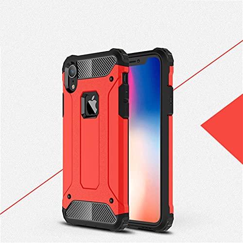 GHC Fundas & Covers para iPhone XR, teléfono Cubierta de Parachoques Anti-Golpe Suave Silicona + Caja de plástico Duro para iPhone XR 6.0 Pulgadas (Color : Rojo)