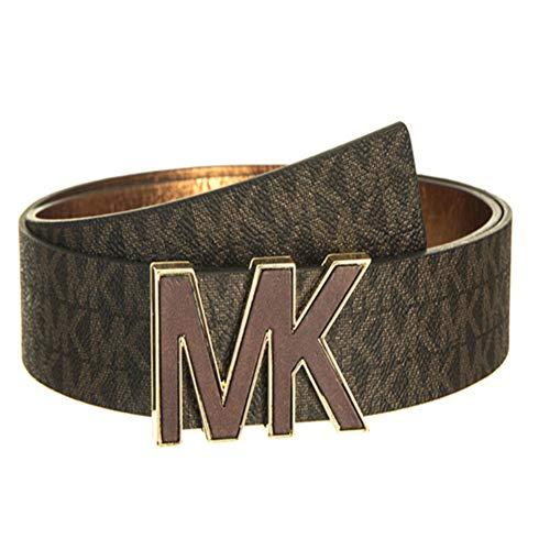 Michael Kors MK Signature Plaque Belt 553504 White M