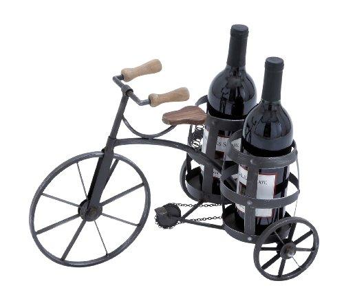 Waterloo 自転車用ワインボトルホルダー 金属製 木製 サイクリング ボトルホルダー2個 長さ17インチ×高さ12インチ 奥行き10.5インチ 10個