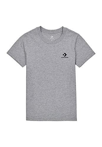 Converse Camiseta de mujer Chest Star Chevron 10018270 gris 035 gris L