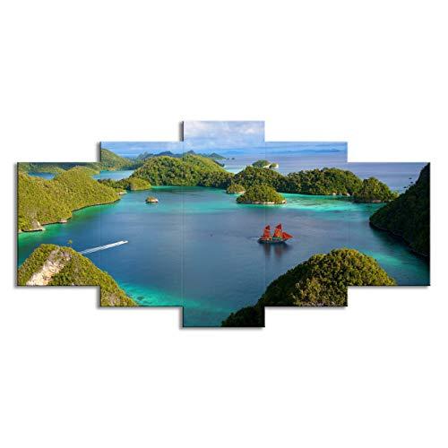 AFHT 5-Union canvas schilderij (geen box), eiland woonkamer wand kunstenaar Resission decoratieve olieverfschilderijen