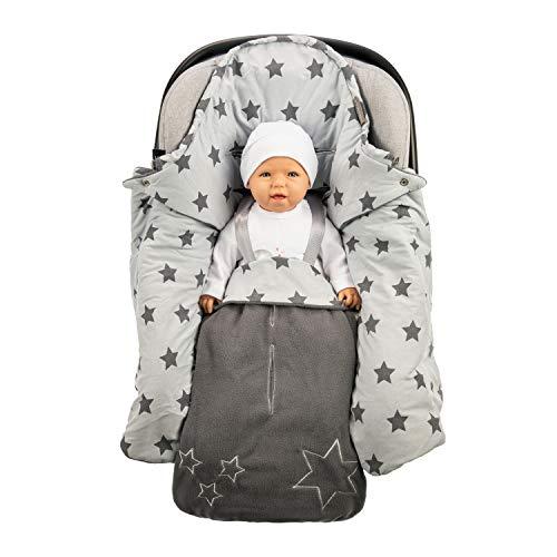 Lilly and Ben® Einschlagdecke für die Übergangszeit - OEKO-TEX - Fuß-sack Baby-Decke für Babyschale Autositz Kinderwagen Buggy