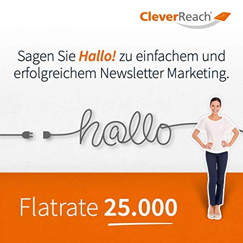 CleverReach Newsletter Software, Email Marketing Automation, Flatrate Tarif 25.000, Web Browser, Kostenfreies Probeabo
