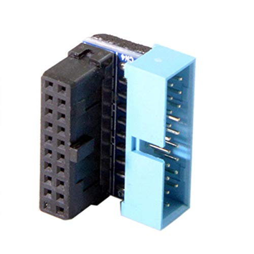 CY USB 3.0 20pin Male to Female Extension Adapter Down Angled 90 Degree for Motherboard Mainboard