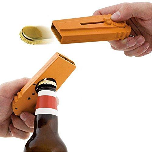 Homiki 1 abrebotellas portátil y lanzador de chapas con llavero en color naranja
