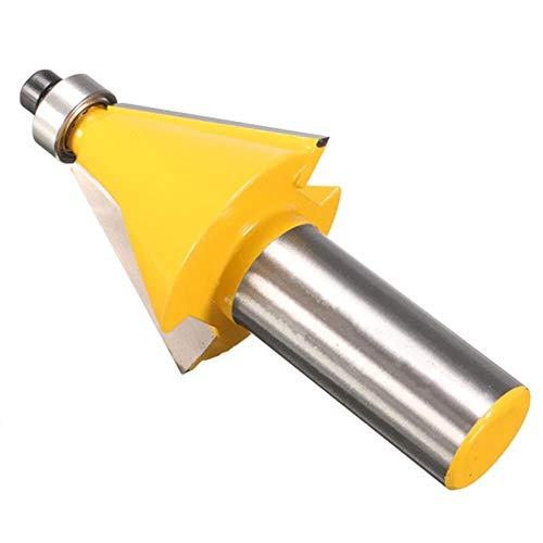 KONGZIR Shank 22.5 Degree Chamfer and Bevel Edging Router Bit Woodworking Tool 1/2 Inch Drill Bits