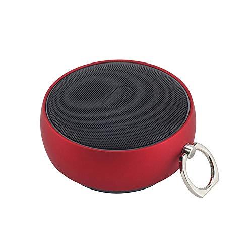 Yi-xir Fashion Design 800mAh Bluetooth Inalámbrico Inalámbrico HiFi Madera HD Micrófono Altavoz de Altavoz Impermeable Wireless Portable Travel (Color : Red)