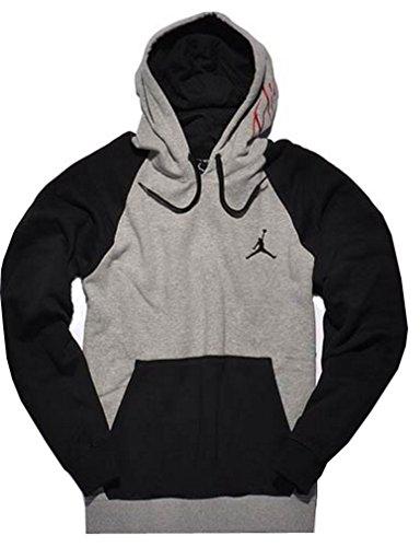 Nike Jordan 2TONE Felpa con Cappuccio Grigio/Nero, Taglia XXL 539841/064