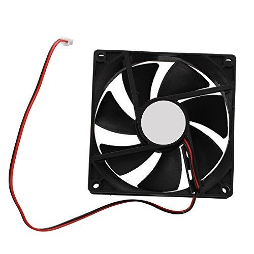 SODIAL Ventilador de refrigeración para cámaras de rack, 90x 25mm, DC 12V, 2 pines, ventilador de CPU