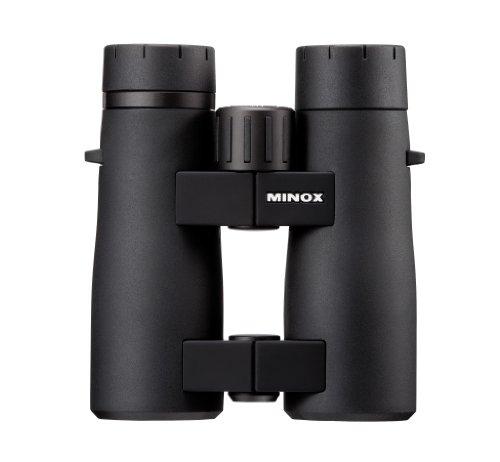 MINOX BV 8x44 Fernglas mit Komfortbrücke – Robustes Universal-Fernglas für die Beobachtung bei Allen Lichtverhältnissen – Inkl. Trageriemen, Bereitschaftstasche, Objektiv- & Okularschutzdeckel