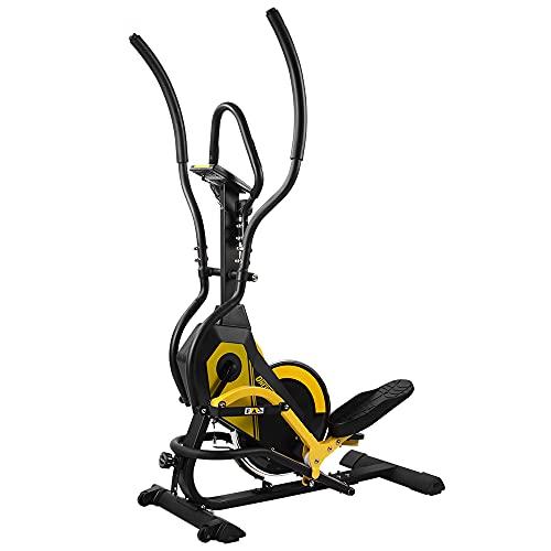 ONETWOFIT Bicicleta Elíptica 3 en 1, 3 Tipos de Ajuste de Pendiente, Resistencia Magnética Ajustable de 8 Niveles, Monitor LCD Bicicleta Elíptica para casa Multifuncional OT299