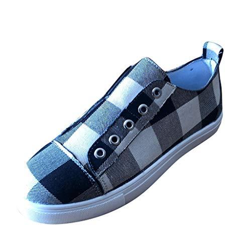 Dorical Damen Slip On Sneaker,Frauen Canvas Fashion Sneakers Low Top & Mid Top Übergrößen 35-43 EU(Weiß,43 EU)