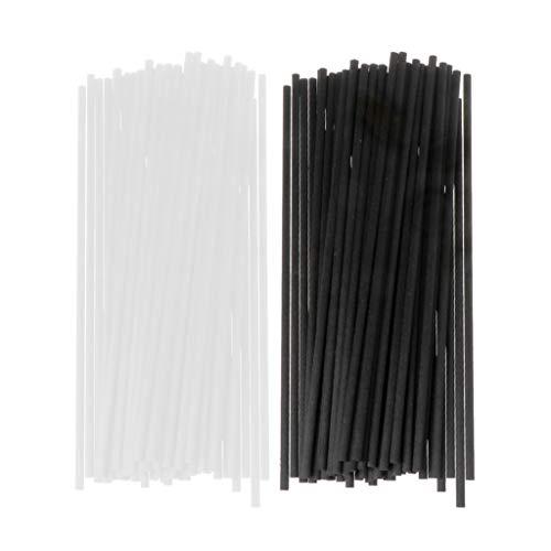 Folewr Varilla de fibra difusor aromaterapia volátil para el hogar difusor de fragancia decoración del hogar 50 unids 20x4mm