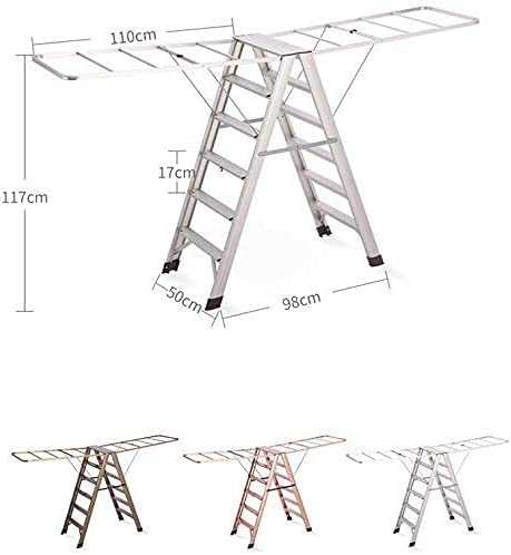 MTYLX Foldable Factory outlet New life Step Stool Folding Floor Drying Steps Rack Ladder
