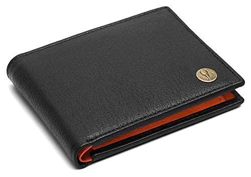 WILDHORN Wildhorn India Black Leather Men's Wallet  654695  Wallets