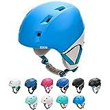 Casco da Sci Invernale e da Snowboard per Bambini, Giovani e Adulti Regolabile Ski Helmet per Gli Sport Invernali, Skate e Alpinismo (M 55-58 cm, Blu/Bianco)