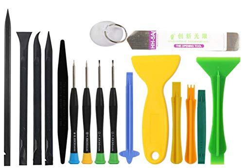 NSinc - 17 in 1 Professional Cell Phone Mobile Screwdriver Set Repair Opening Tool Kit for Various Smartphones and Tablets