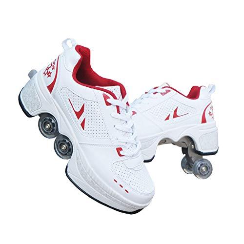 Pattini a rotelle, Pattini Invisibili, Pattini a rotelle Rimovibili 2 in 1, Scarpe da Skate Unisex, Scarpe da Parkour per Lo Sport/Tempo Libero