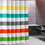 Poliéster Impermeable Lavable (Mejor Calidad de Hotel ecológico) de Forro para Cortina de Ducha de Tela de baño con