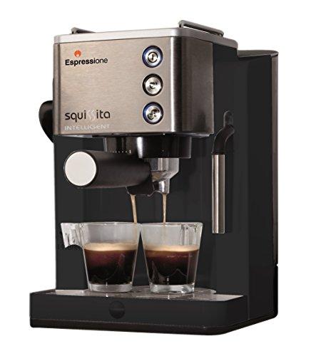 Find Bargain Espressione CE-4492 Squissita Intelligent Espresso Machine, 1.22 L, Stainless Steel