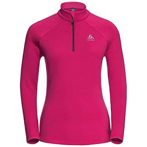 Odlo Snowbird Midlayer 1/2 Zip Sweat-Shirt À Capuche Sport, Multicolore (Beetroot Purple 31600), Large Femme