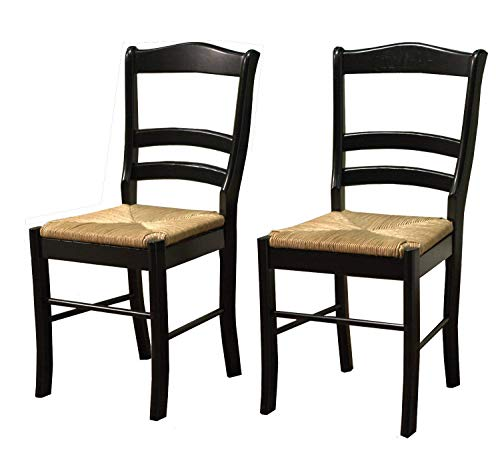 TMS Paloma Chair, Black, Set of 2