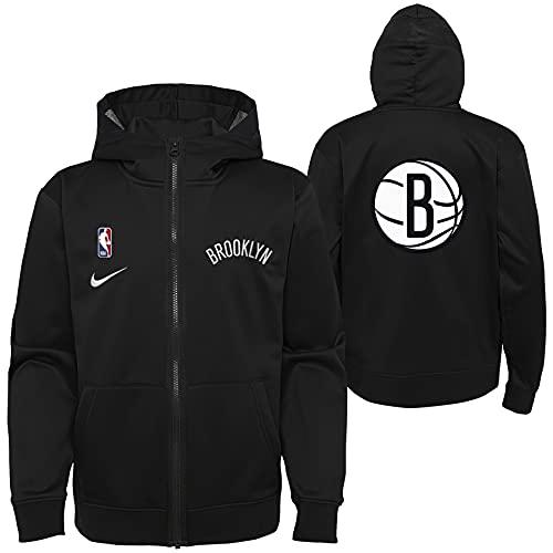 Nike NBA Boys Youth Pull Overtlight Lightweight Hooded Full Zip Jacket, Brooklyn Nets, Large (14-16)