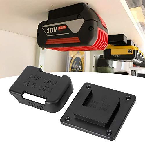 Battery Storage Rack, Battery Holder Case, Battery Belt Slot Sturdy Convenient for 18V Batteries Travel(Black)