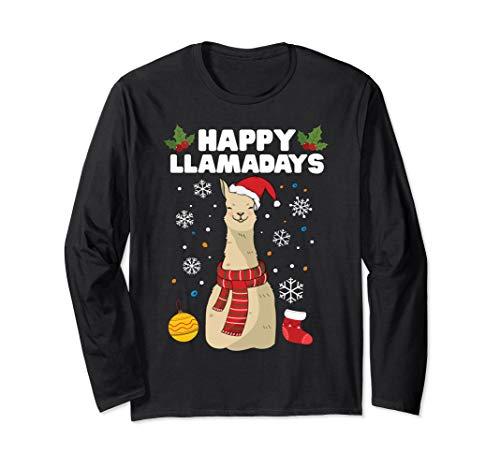 Cute Adorable Sweatshirt Christmas Song Funny Fa La La La La Llama Jumper