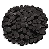 300pcs Black Buckle Plastic Button Accessories, 0.47inch (12mm)Premium Charm Buttons, Suitable for Back Piece, Shoe Charm for Kids, Wristband charm backs, diy by SEWPASAM