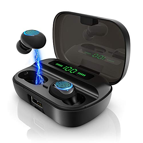 Bluetooth Kopfhörer in Ear, AceScreen Kabellose Bluetooth 5.0 Kopfhörer mit 200H Stunden Spielzeit, Mono/Share-Modus, Touch-Control Wireless Earbuds Headset, Stereo Ohrhörer mit Mikrofon und Ladecase