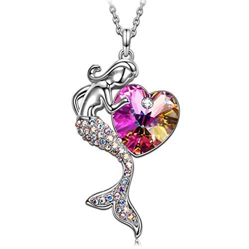 J.RENEÉ Sirena Collares Mujer, con Cristal de Swarovski Púrpura, Joyas para Mujer
