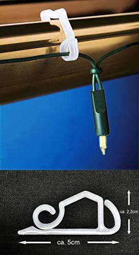 Dachrinnenhaken 24er-Pack für Lichterketten