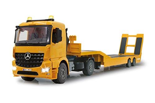 Jamara 405107 - Tieflader Mercedes Arocs 1:20 2,4GHz – An- und Abkoppeln Tieflader, Tiefladerabstützung + Rampe hoch/runter, Hupe, Rückfahrwarnsound, realistischer Motorsound, 2 Geschwindigkeitsstufen