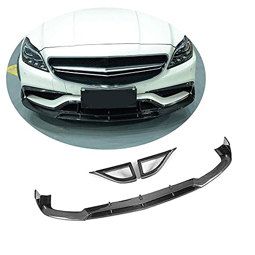 YMSHD Apto para Mercedes para Benz W218 Cls63 Amg 2015-2018, Fibra de Carbono, Parachoques Delantero, Protector de Labios, difusor de mentón, difusor de Labios, Kit de Barra de protección de