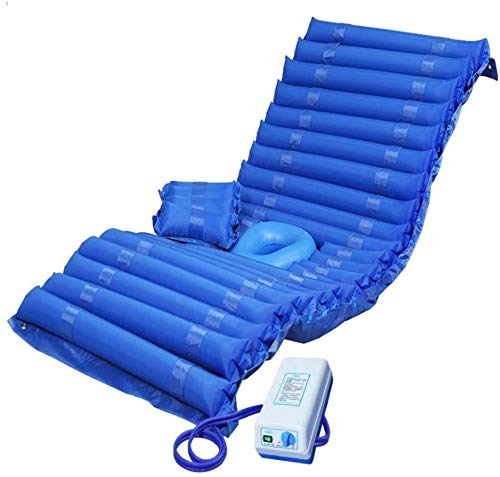 WKDZ Wechselnde Druckluftmatratze Aufblasbare Pad für Ulkus- und Wundbehandlung passt für Standard-Krankenhausbettzähle, die mit elektrischer Pumpe helfen 1218