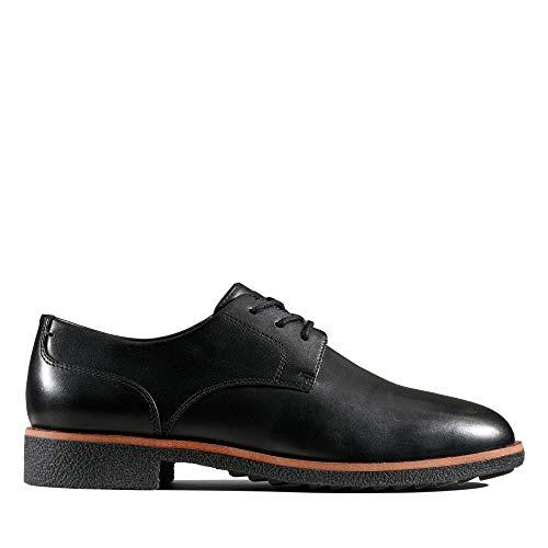 Clarks Damen Griffin Lane Derbys, Schwarz (Black Leather), 35.5 EU
