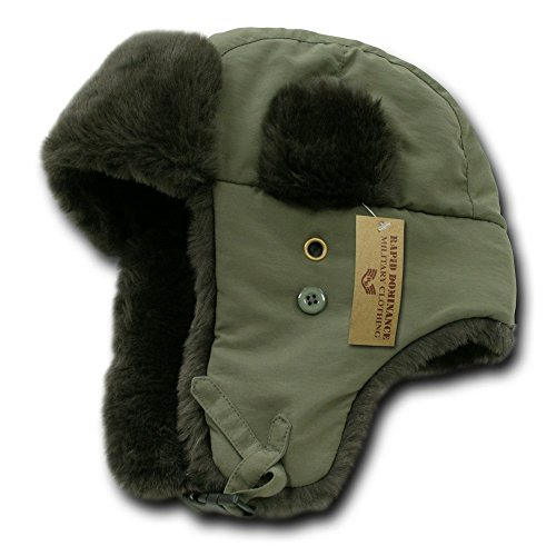 Winter Aviator Army Trooper Hat - Olive L-XL