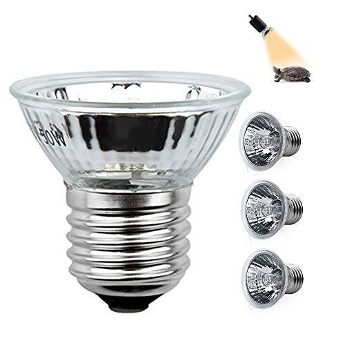 Klarlight 4x Tartaruga Illuminazione Lampada Alogen 50W E27 UVA UVB Retroilluminazione Riscaldante per Rettile, Lucertola, Tartarughe D'acqua, Ragni, Rane