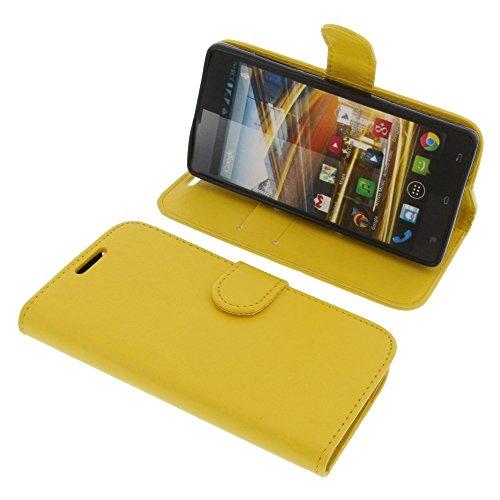 foto-kontor Tasche für Archos 50 Neon Book Style Schutz Hülle Buch gelb