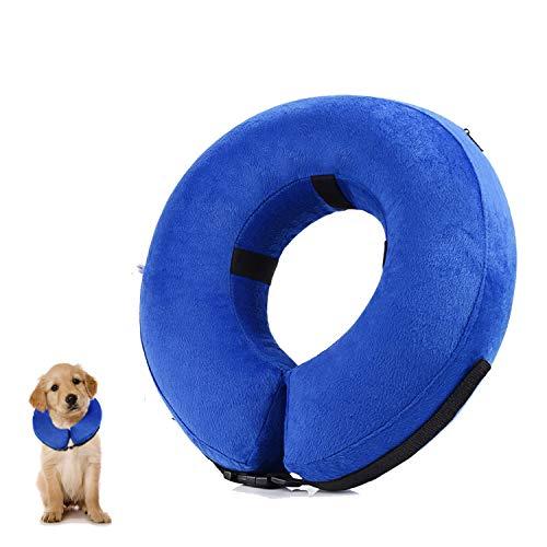 YAMI Aufblasbares Haustierhalsband, Schützender Aufblasbarer Kragen für kleine und mittlere Hunde und Katzen, Verhindern Sie, DASS Haustiere Stiche, Wunden und Hautausschläge berühren (S)