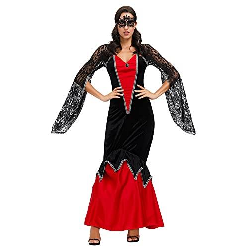 GDYJP Mujeres Medieval Vestido Halloween Cosplay Uniforme Brujas de Brujas de Novia...