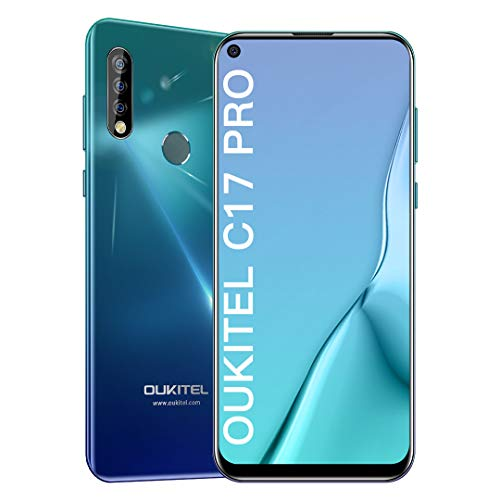 OUKITEL C17 Pro Teléfono Móvil Libre 2019, Full-Screen de 6.35 Pulgadas, Procesador Octa-Core de 2.0GHz, 4GB+64GB, Smartphone Libres, Triple Cámara 13MP, Android 9.0 Móviles, 3900mAh, Dual SIM,Type C