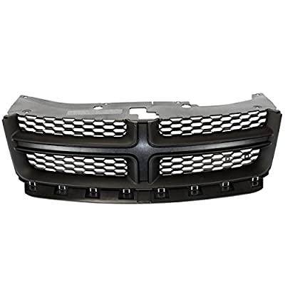 Koolzap For 11-14 Avenger Front Grill Grille Assembly Black Shell w/Gray Insert 68102307AC