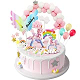 iZoeL Cake Topper Torta Unicorno Kit Nuvola Arcobaleno Happy Birthday Banner Decorazione T...