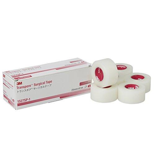 3M サージカルテープ トランスポア 25mm幅x9.1m 6巻 1527SP-1